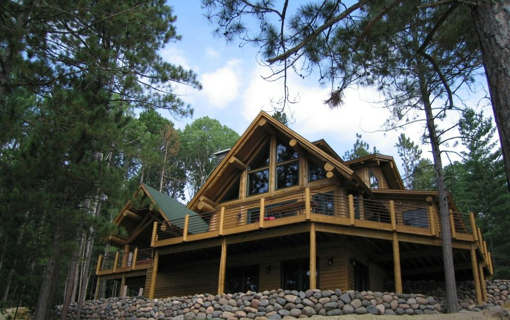 Anderson Hammack Construction, Timber Frame Log Home Duluth MN