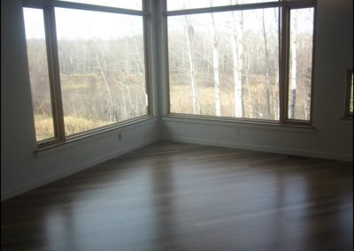 Contemporary Window View Hardwood Floor