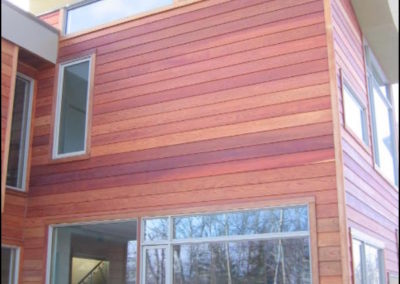 Contemporary Wood Siding