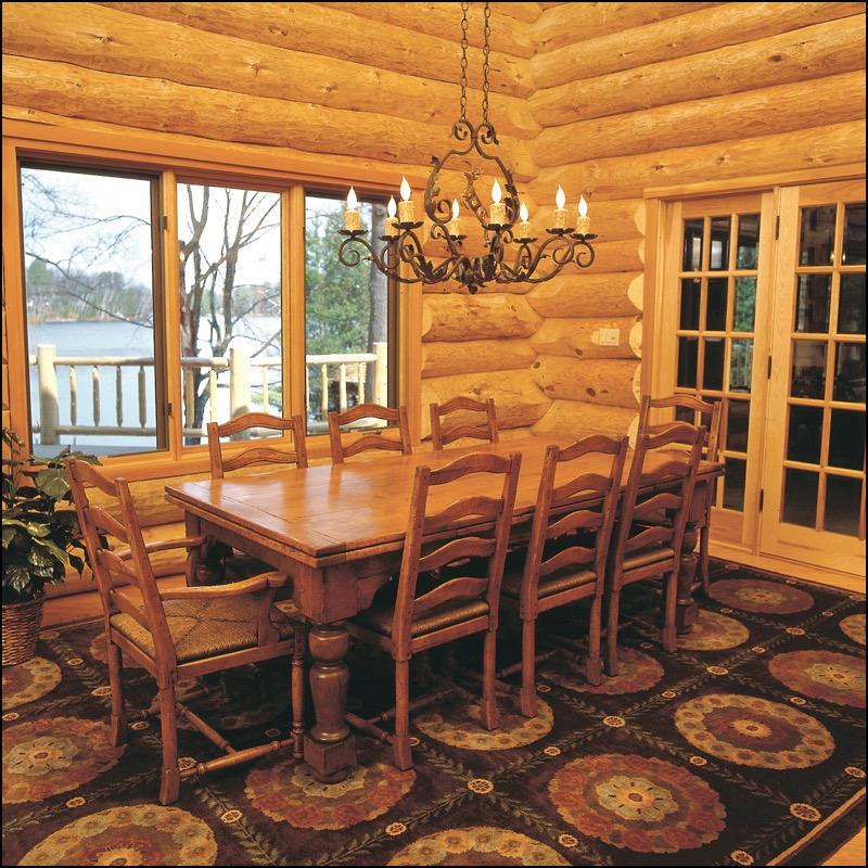 Luxury Log Home Dining Room