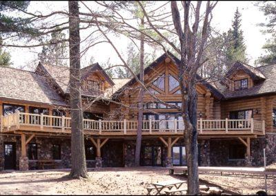 Luxury Log Home Exterior Deck
