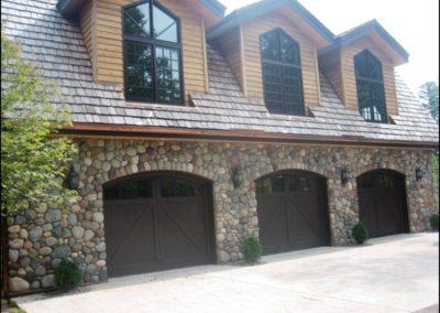 Luxury Log Home Garage