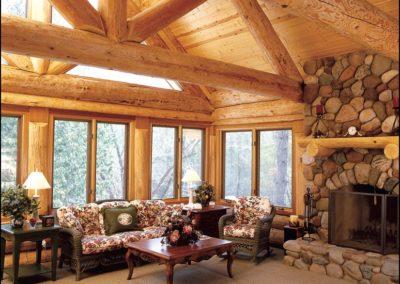 Luxury Log Home Great Room