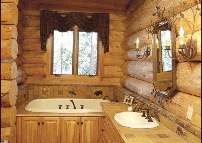 Luxury Log Home Master Bathroom