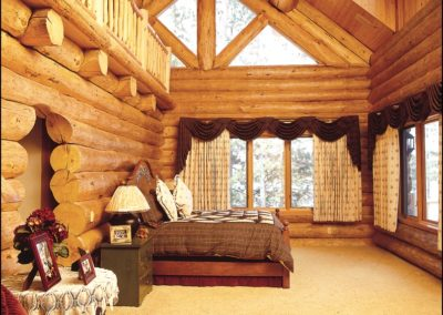 Luxury Log Home Master Bedroom