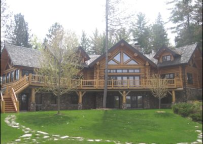 Luxury Log Home North Woods