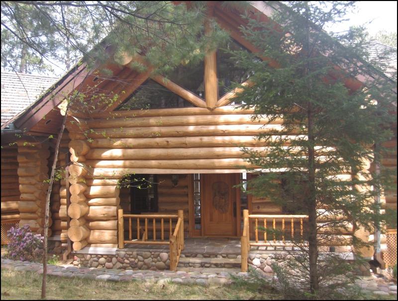 Luxury Log Home Porch
