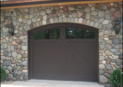 Luxury Log Home Stone Garage