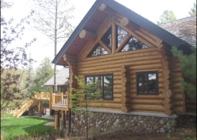 Luxury Log Home Timber