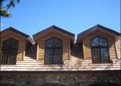 Luxury Log Home Upper Windows