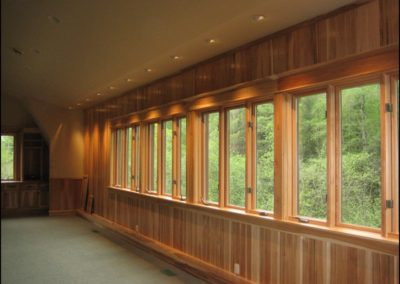 Luxury Log Home Windows