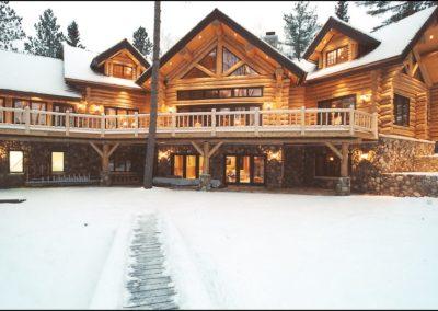 Luxury Log Home Winter