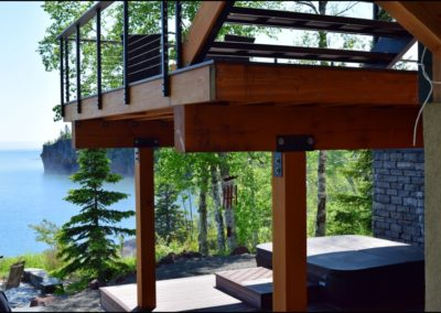 Nordic Zen Deck Detail Anderson Hammack Home Builders Duluth MN