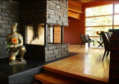 Nordic Zen Fireplace Anderson Hammack Luxury Builders Duluth Superior