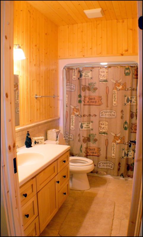North Shore Log Home Bathroom