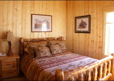 North Shore Log Home Bedroom