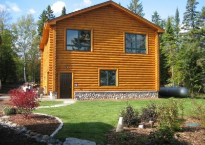 North Shore Log Home Garage