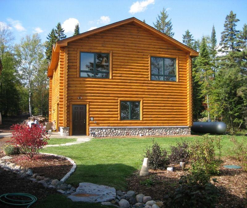 North Shore Log Home Garage