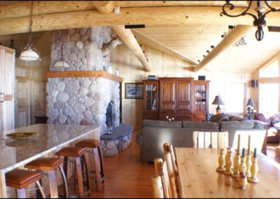 North Shore Log Home Great Room2