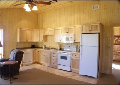 North Shore Log Home Guest Kitchen