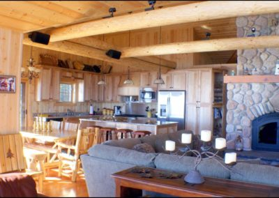 North Shore Log Home Living Room