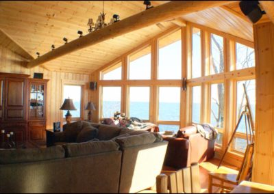 North Shore Log Home Windows