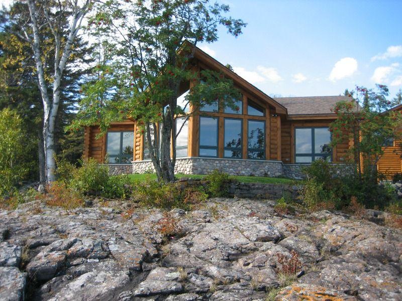 North Shore Log Home Windows