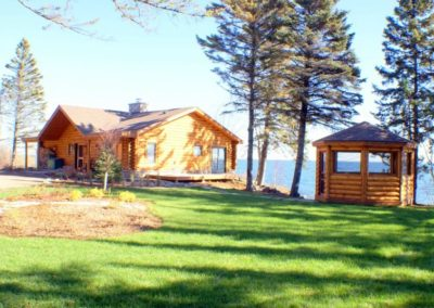 North Shore Log Home with Gazebo