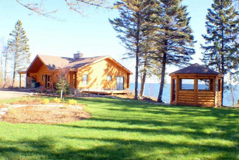 North Shore Log Home with Gazebo