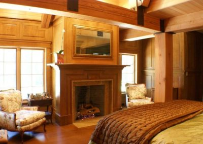 Rustic Craftsman Bedroom Fireplace