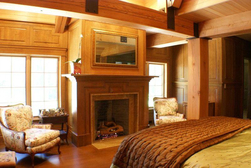 Rustic Craftsman Bedroom Fireplace Anderson Hammack Luxury Builders