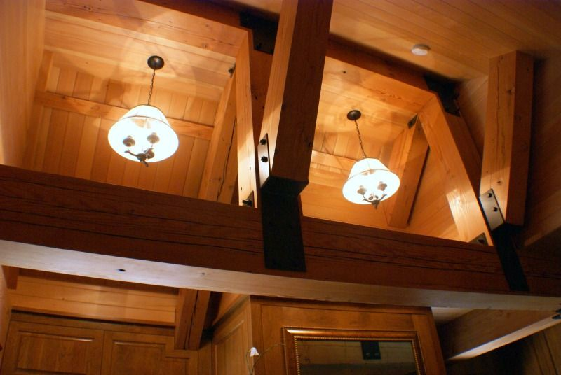Rustic Craftsman Timber Beams Anderson Hammack Construction
