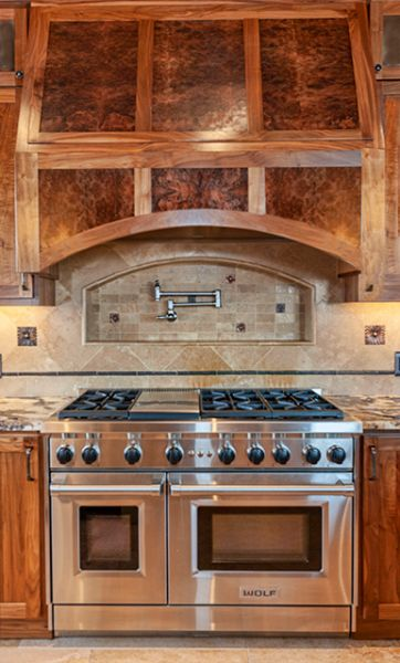 Custom Design Build Kitchen Range And Hood