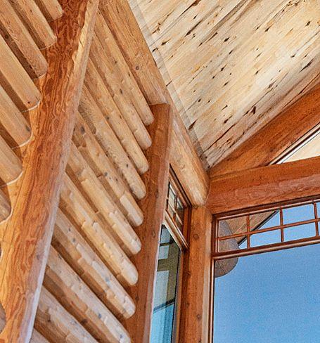 Log Home Wall Window Details