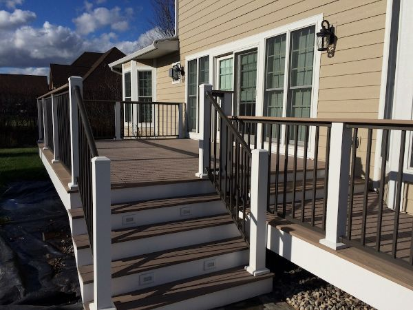 Azek Premium Composite Deck Build Wisconsin