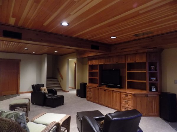 Basement Entertaining Space