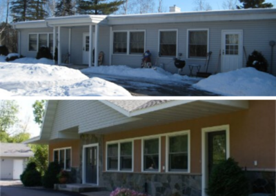 Before And After Exterior Siding Windows Doors