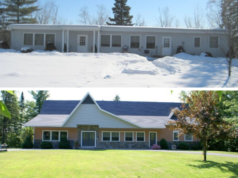 Before And After Home Roof Line And Exterior Renovation