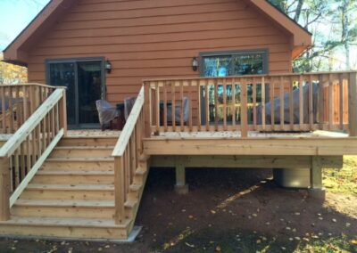 Classic New Hardwood Deck Addition
