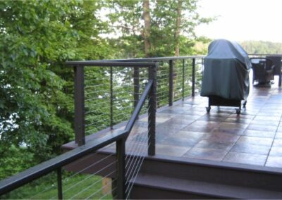 Clean Modern Deck And See Thru Railing