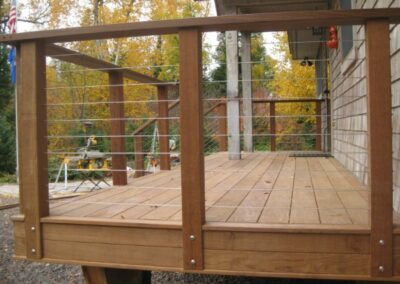 Clean Modern Deck Railing