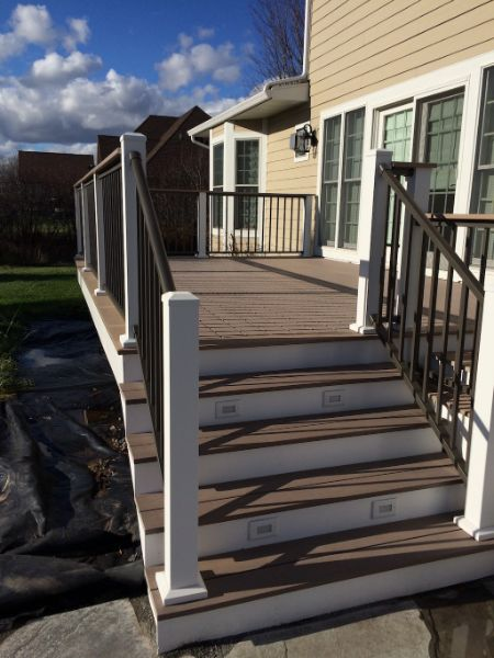 Composite Decking Stairs With Lighting