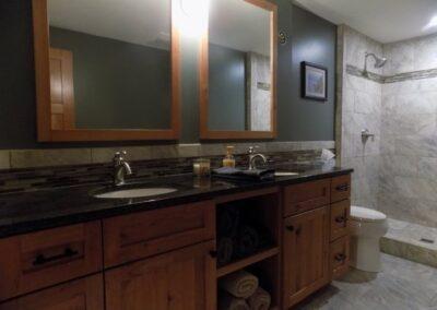 Custom Bathroom Cabinet Vanity For Basement