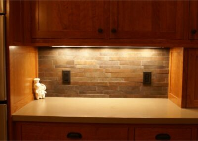 Custom Stone Backsplash Kitchen