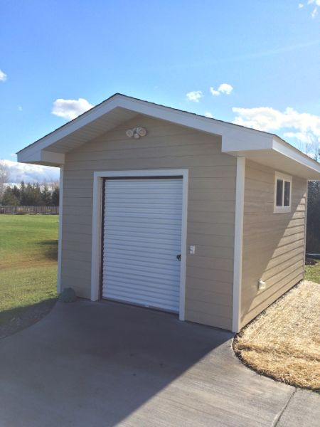 Custom Storage Shed With Roll Door
