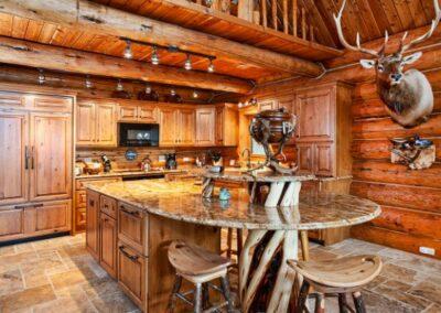 Custom Wood Kitchen Build Log Home