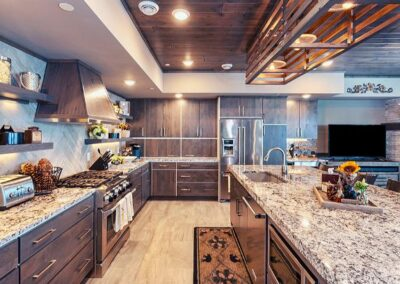 Custom Wood Kitchen Cabinets & Granite Countertop