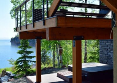 Hardwood Deck Overlooking Lake Superior