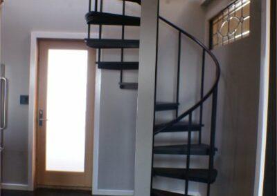 Iron Spiral Staircase Space Saver