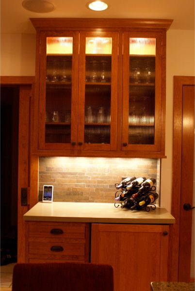 Kitchen Remodel Buffet Wine Bar